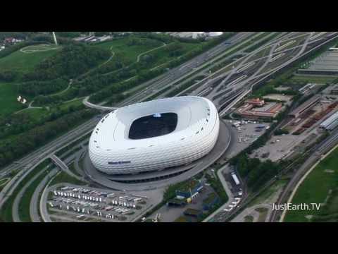 Allianz Arena des FC Bayern München von oben