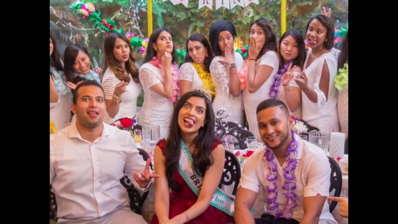bridal shower with caribbean theme in the garden event space