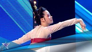 Esta GRACIOSA MUJER CHINA nos enseña su CULTURA BAILANDO | Audiciones 7 | Got Talent España 5 (2019)