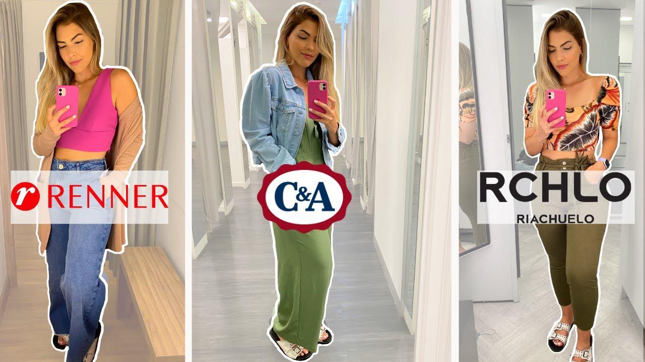PROVANDO LOOKS EM FAST FASHION   C&A, RENNER e Riachuelo