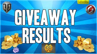 World of Tanks || Give Away Competition Results 30 Days Premium 1000 Gold