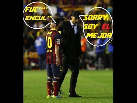 Cristiano Ronaldo Comforts Messi Copa Del Rey Final 2014 HD