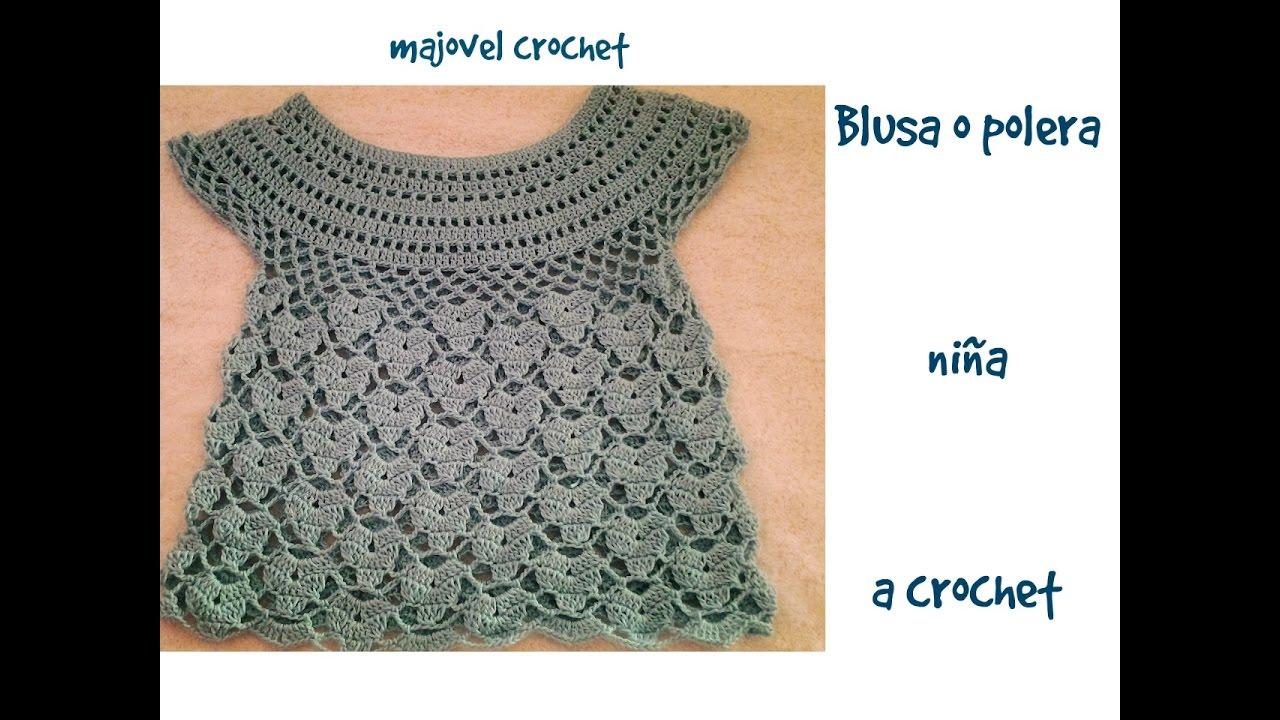 Blusa o polera niña a crochet parte 1ª - YouTube