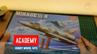 Model Kit Aircraft France Air Force Mirage     R Academy 148 Scale modelkit scalemodel aircraft