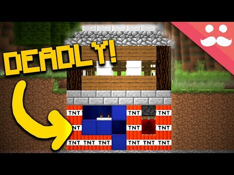 How to TRAP A HOUSE in Minecraft!!