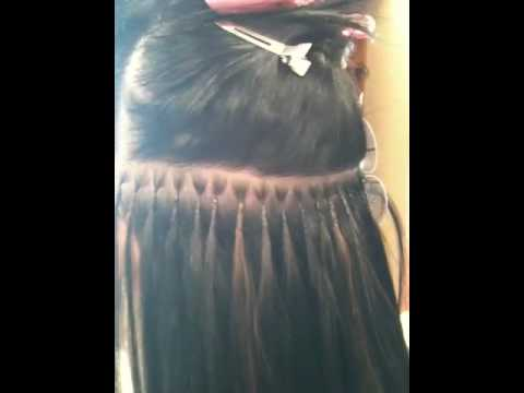 Great lengths hair extension application part 2 youtube pmusecretfo Choice Image