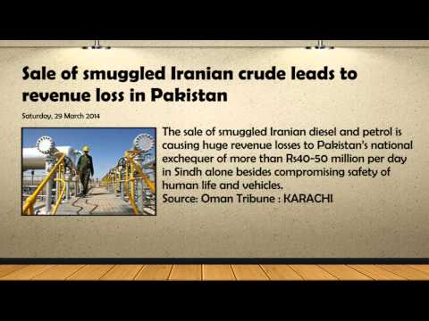 Sale of Smuggled Iranian Crude Oil Leads to Revenue Loss in Pakistan