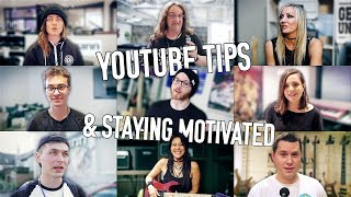 youtube tips and staying motivated? feat sarah longfield adam neely music is win nita strauss