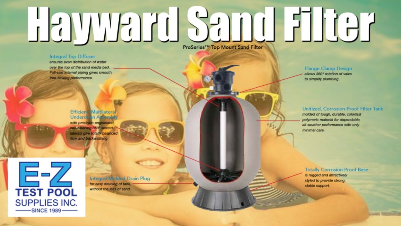 Pro series sand filter