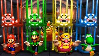 Mario Party The Top 100 - Mario Vs Luigi Vs Wario Vs Waluigi (Master Cpu)