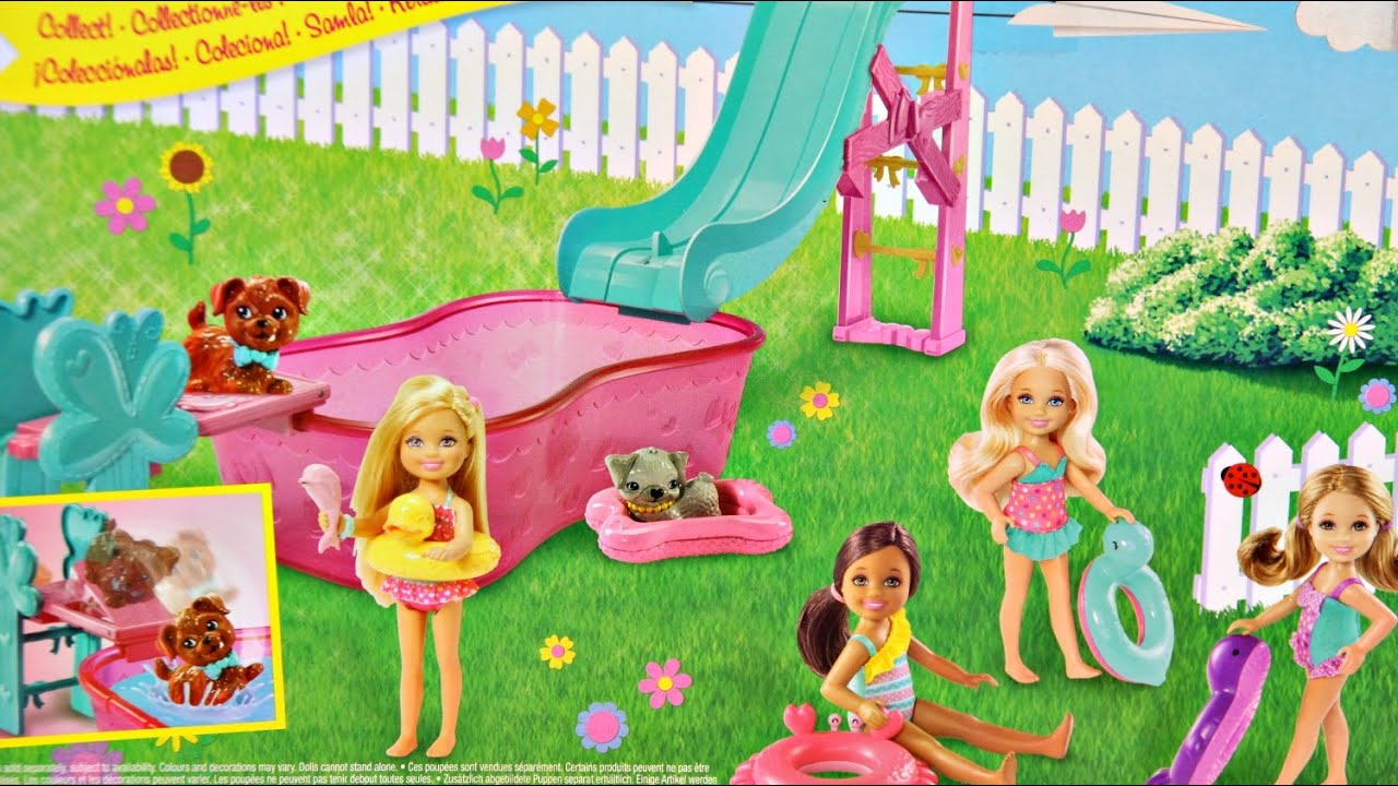 Barbie Flippin Pup Pool And Chelsea Doll Playset Barbie