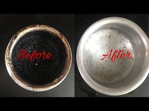 How to clean burnt vessel easily |  जले हुए बर्तनो को कैसे साफ़ करे चुटकी में