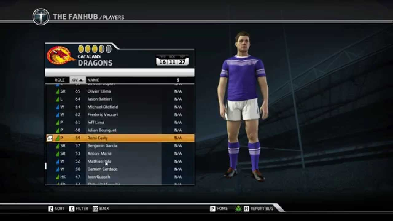 Rugby League Live 3 Player Stats Youtube