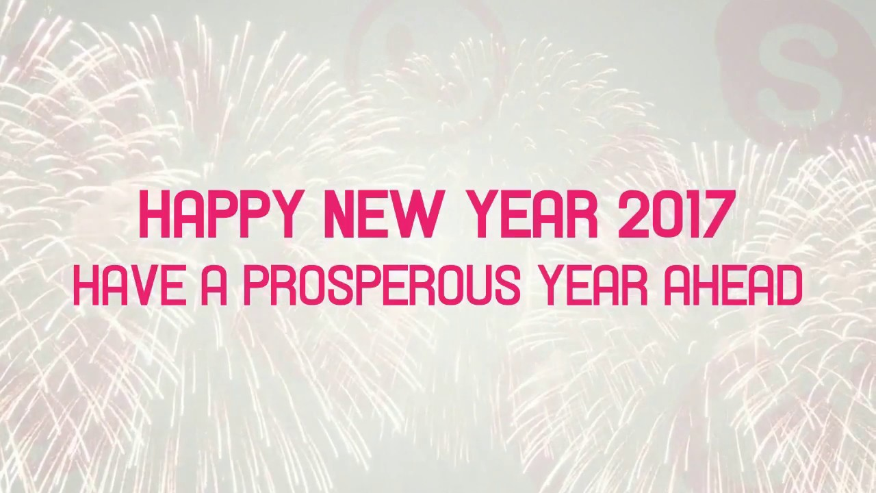 Wish You All a Happy New Year 2017 - Web Tree Solution - YouTube