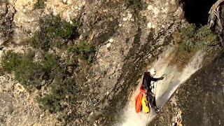 Ardèche - Canyoning Cascade de Pissevieille - 80m de descente en rappel