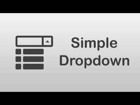 Arabic Tutorials ] How to Create Simple Dropdown Menu - YouTube