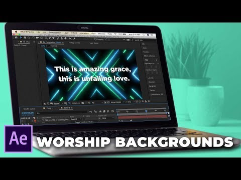 Creating Saber Style Worship Backgrounds in After Effects