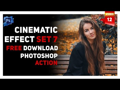 Photoshop Tutorial | Photoshop actions | Photoshop actions free download | Cinematic Filters | Set 7 thumbnail