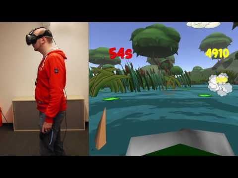 Playing ByteRockers' VRog on HTC Vive |