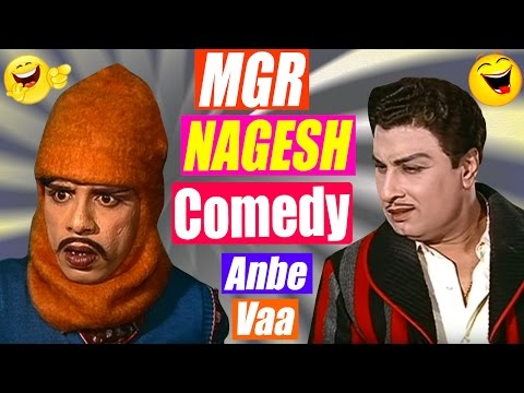 Anbe Vaa Tamil Movie Comedy Part 1 | Nagesh | Manorama | Comedy Scenes | MGR | Saroja Devi