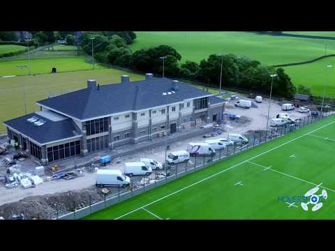 Kendal Rugby Club New Club House Progress Video by Drone
