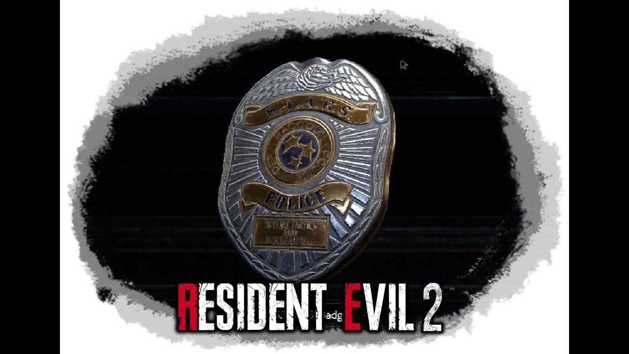 S T A R S Badge Unlock Resident Evil 2 2019 Youtube