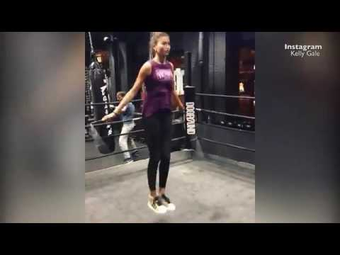Kelly Gale's intense workout before Victoria Sport show   Daily Mail Online