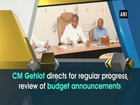 CM Gehlot directs for regular progress review of budget announcements