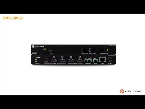 OME-SW32 3×2 Matrix Switcher for HDMI and USB-C