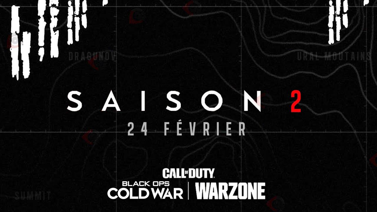 SAISON 2 BLACK OPS COLD WAR : NOUVELLES ARMES, NOUVELLES MAPS, WARZONE, DATE, etc.
