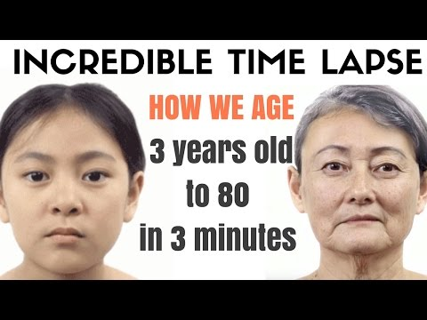 How we ageincredible time lapse video