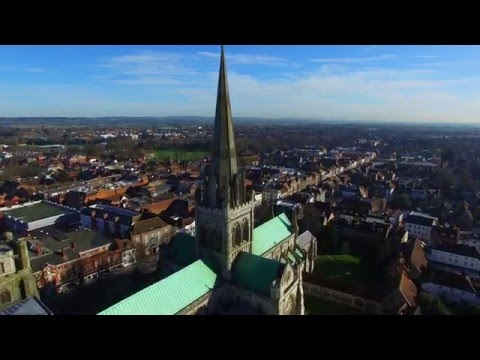 Chichester Cathedral: An Aerial View