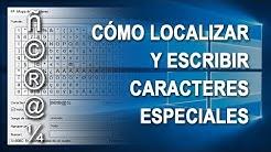 Cmo localizar, escribir y utilizar smbolos o caracteres especiales en Windows