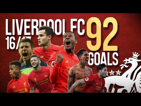 Liverpool FC – All 92 Goals – 2016/2017 – English Commentary (Just Goals)
