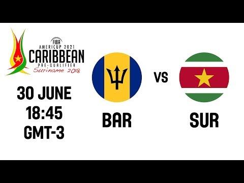 LIVE - Barbados v Suriname - 3rd Place - FIBA AmeriCup 2021 - CBC Prequalifiers