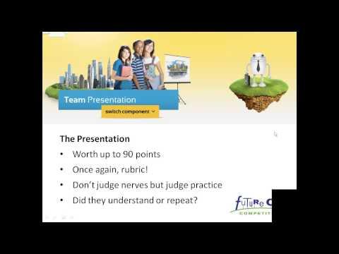 2013 Future City Model & Presentation Judges Webinar