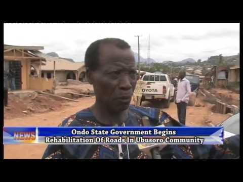 Ondo State Govt. begins rehabilitation of roads in Ubusoro community