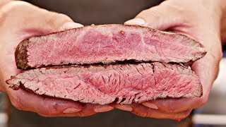 Which tastes better?? Flank steak vs Flat Iron Steak -- steak experiment