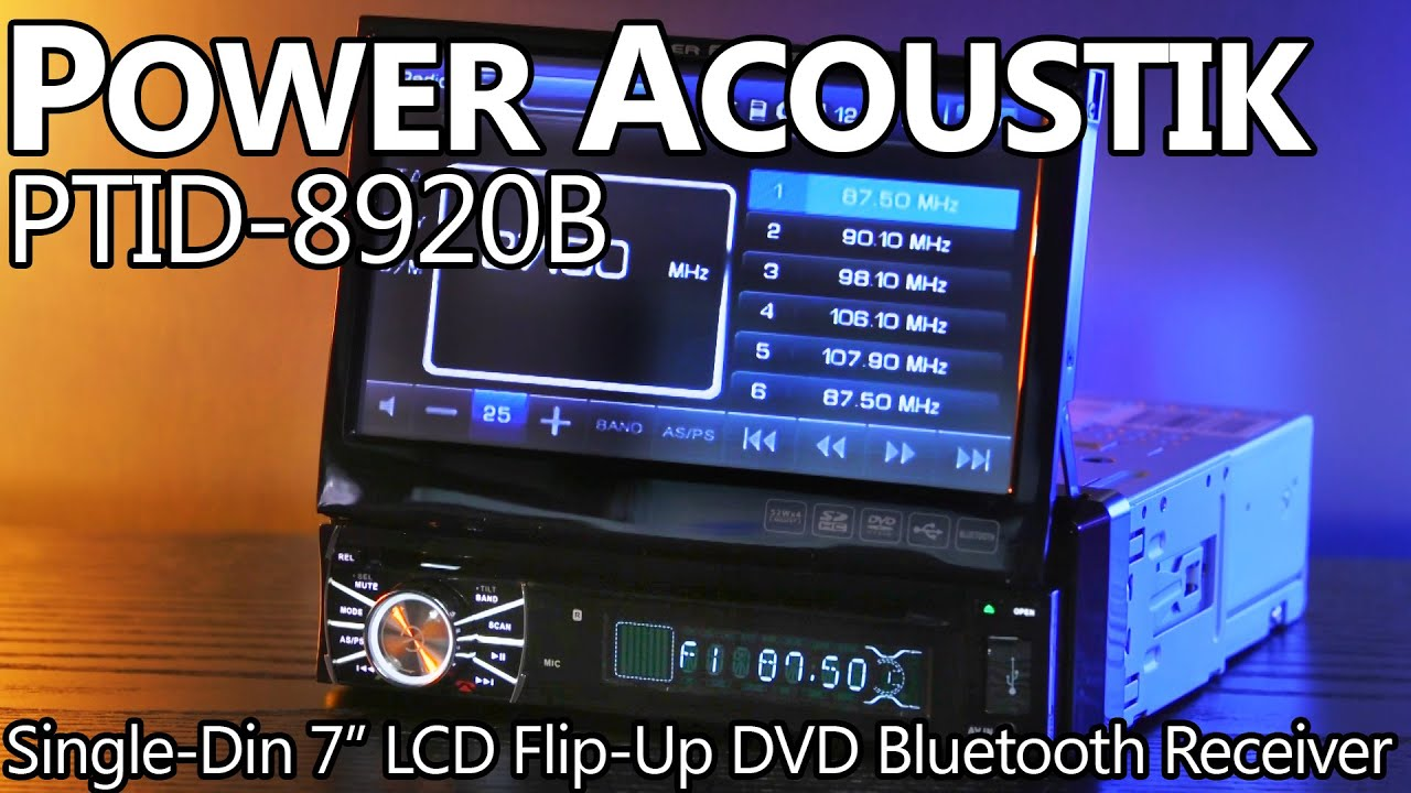 power acoustik ptid 8920b single din 7 lcd dvd radio [ 1280 x 720 Pixel ]