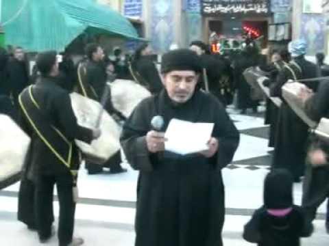 في الحرم الحسيني الشريف