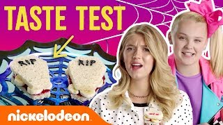 JoJo Siwa & Lexi DiBenedetto's Trick Or Treat 🍬 Halloween Taste Test | Nick