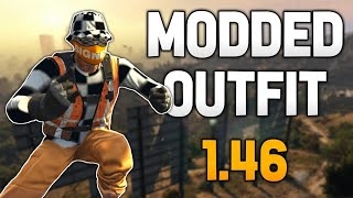 GTA 5 *NEW* Orange CHECKERED Modded Outfit 1.46! TRASH VEST! JOGGERS! (GTA Online Modded Outfit)