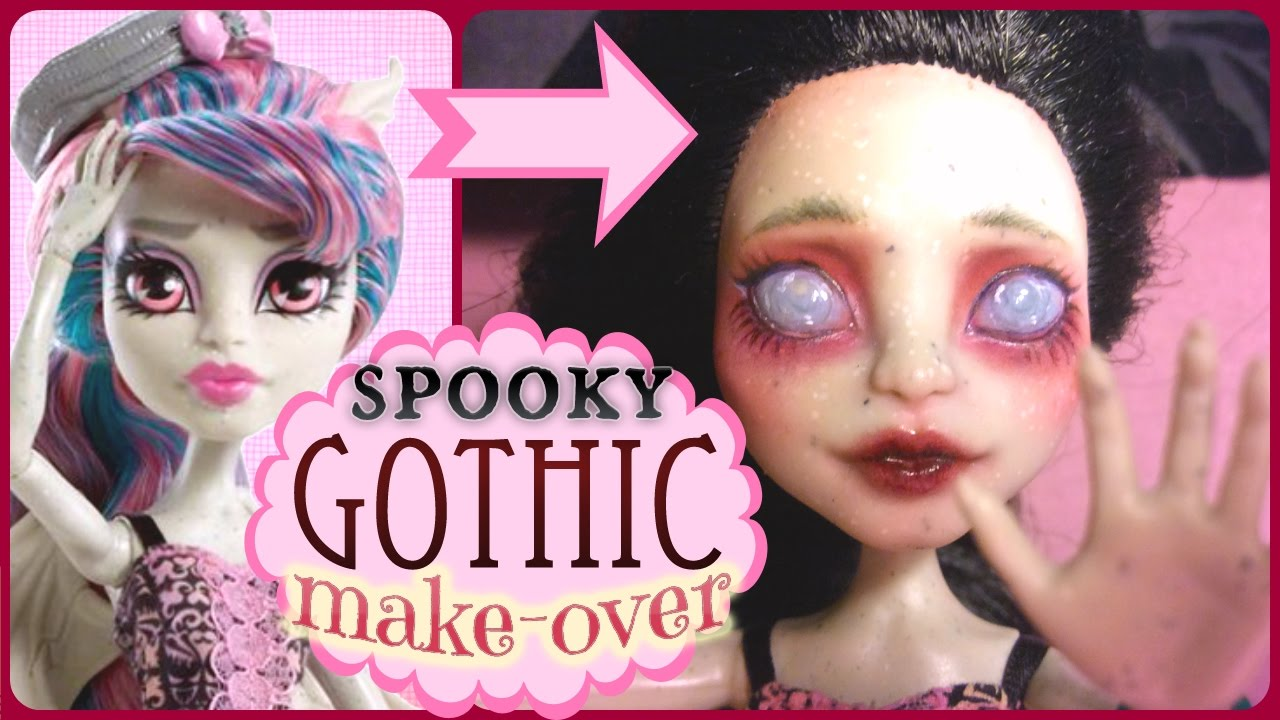 Monster high rochelle re root and repaint gothic doll faceup monster high rochelle re root and repaint gothic doll faceup youtube winobraniefo Image collections