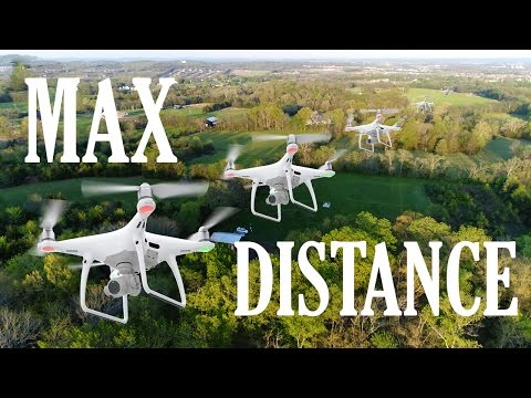 Phantom Drone DISTANCE Test  (REAL-TIME No Edits)  [4K]