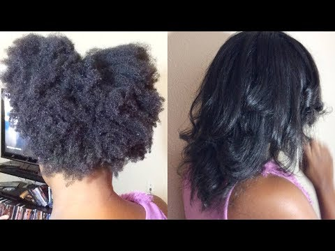 The Shrinkage is Too Real  Silk Press On 4c Hair
