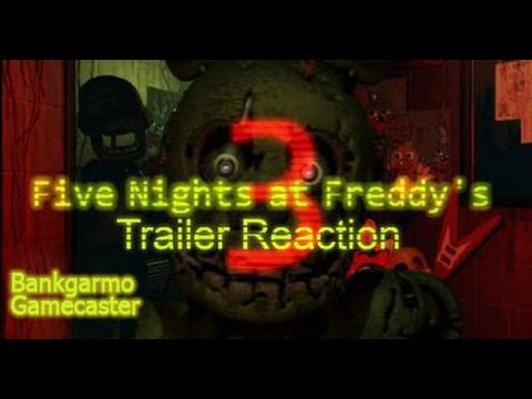 มาดูตัวอย่าง 5คืนที่เฟรดดี้ภาค3!!+100 like=ตัวเต็ม!:-Five Nights At Freddy's 3 Trailer Live/Reaction
