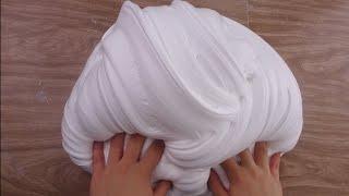 How to Make  GIANT FLUFFY SLIME!   DIY Stretchy Big Fluffy Soft Serve Slime!