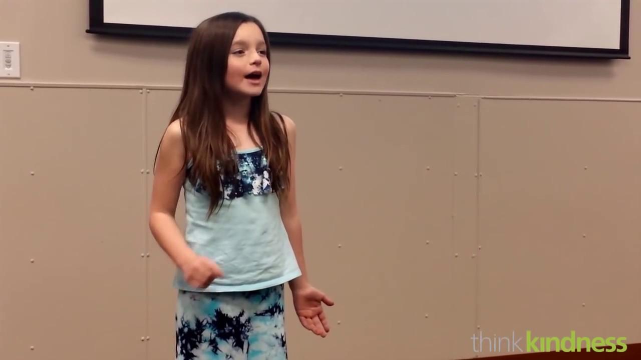 10 Year Old Girls Great Speech