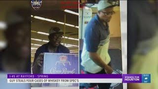 Guy steals four cases of Crown Royal from Spec's