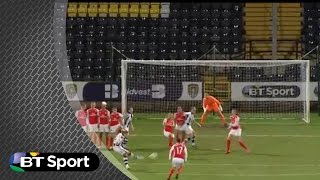 Fake argument leads to incredible free-kick   BT Sport